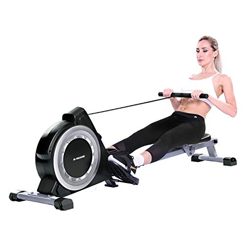 MaxKare Magnetic Rowing Machine Folding Exercise Rower 16-Level Tension Resistance Precise Display Panel with Storage Box Quite for Home Use