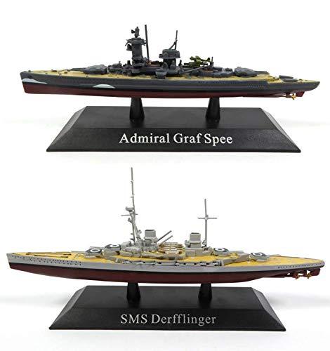 OPO 10 - Lote de 2 Buques de Guerra 1/1250: SMS DERFFLINGER + Admiral GRAF SPEE (WS13 + WS03)