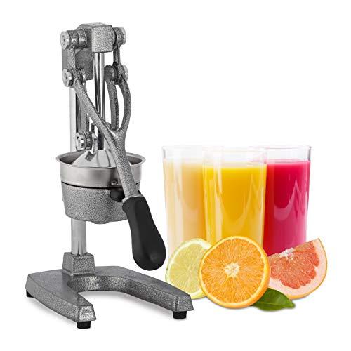 Relaxdays Saftpresse manuell, XL Orangenpresse, professionelle Fruchtpresse, Premium Zitruspresse, Gastronomie-Qualität