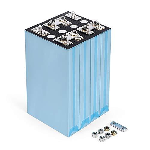QMRePow Batería de 3.2v 100ah Lifepo4 Puede Formar baterías de Litio-Hierro de 12v 24V 48V 100ah Puede Hacer baterías for energía Solar, Barco, batería de Coche (Size : 8PCS)