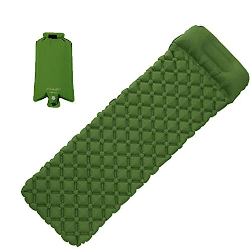 Camping Mat Ultra-Light Self Inflatable Mattress Hiking Tent Mat Air Cushion Portable Sleeping Pad with Pillow Waterproof Mattress for Outdoor ,Backpacking, Car Traveling and Hiking(74.8*22.4*1.9inch)