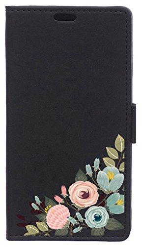 BeCool Funda Libro para Xiaomi Mi6 Plus- Carcasa con función Soporte, Ranuras para tarjetes y Billetes, Diseño Rama con Flores Coloridas