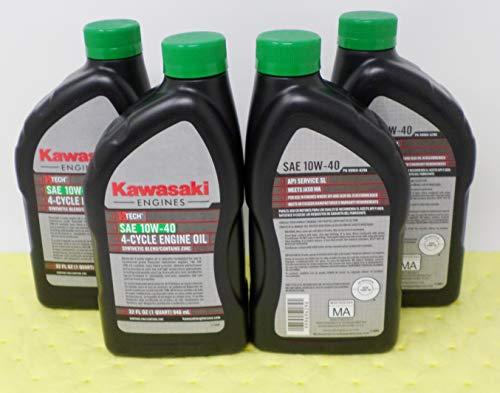 Kawasaki Pack of 4 99969-6296 Genuine OEM K-Tech SAE 10W-40 4-Cycle Engine Oil …