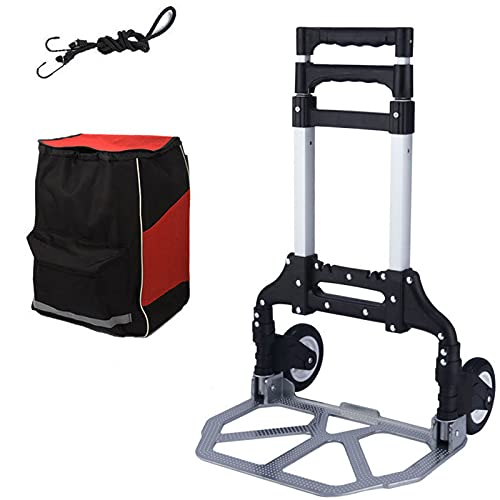 Foldable trolley with storage bag,aluminum alloy small Storage Trolley,folding shopping cart,drawn goods household packet wagon, folding car