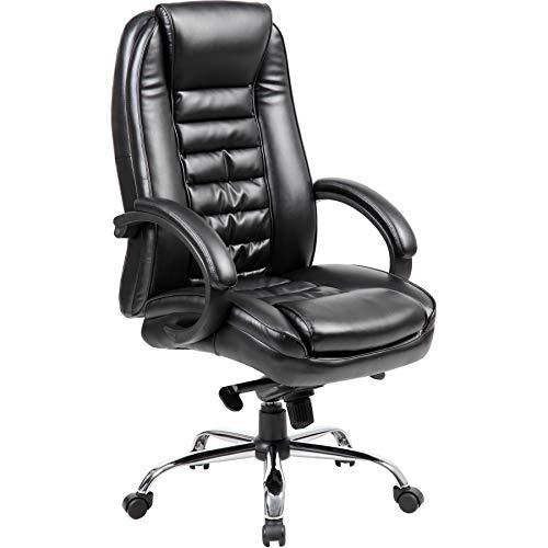 Office Furniture Online Chefsessel mit Lederfaserstoff-Bezug | Lucca | Schwarz