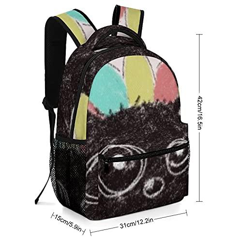 Mochila de lona para niñas y niñas, versátil, unisex, bolsa Lollipop Bear impermeable Kawaii bolsa de escuela grande casual para adolescentes niños niños