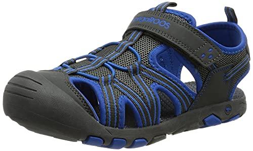 KangaROOS Unisex Kinder K-Roam Sandale, steel grey/brilliant blue, 34 EU