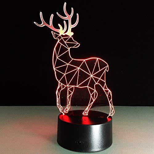 Weihnachtsrotwildschlafzimmerbüroausgangsdekor-Tischlampenkindernachtlicht-Geschenkweihnachten
