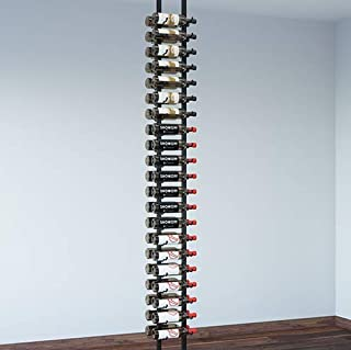 VintageView Floor-to-Ceiling Frames Series-Floating 42 Bottle Wall Mounted Wine Rack (Satin Black) Stylish Modern Wine Storage with Label Forward Design