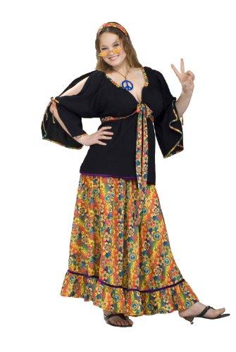 60s Groovy Mamma Hippie Costume (Plus Size) Fancy Dress