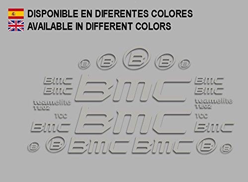 Ecoshirt 8D-LAPG-T814 Aufkleber BMC F167 Vinyl Adesivi Decal Aufkleber ・・・・llavero MTB Stickers Bike, Silber