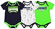 100% cotton Screen printed graphics 3 snap closures at the legs Sweet option for baby boys and girls Officially licensed NFL product