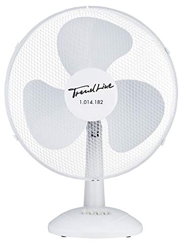 TrendLine Tischventilator 40 cm weiss 45 Watt 3 Stufen Ventilator Windmaschine