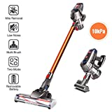 Cordless vacuum cleaner, 150W Manual vacuum cleaner -10kPa / 7.5kPa Powerful and adjustable suction with anti-dust mite brush for cars, hard floors, carpets and pet hair