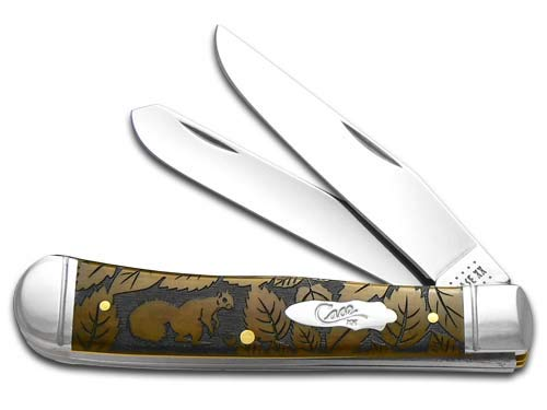 CASE XX Squirrel Wildlife Series Antique Bone Trapper 1/500 Stainless Pocket Knife Knives