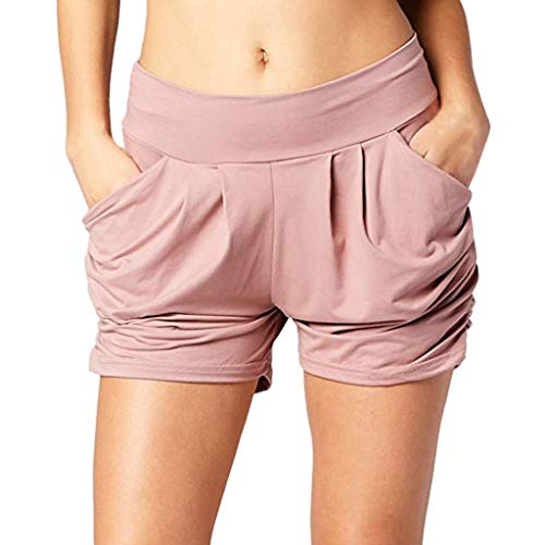 Dainzusyful Womens Casual Drawstring Elastic Waist Loose Comfy Summer Beach Shorts Pants with Pockets S-2XL
