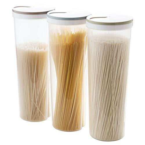 AMAZOM Recipiente para Almacenamiento de Alimentos con Tapas, Fabricado con plástico Duradero sin BPA para el Almacenamiento y la organización de la despensa