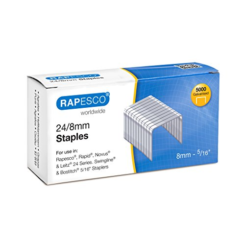 Rapesco Grapas - Caja de 5000 grapas 24/8mm (22/8)