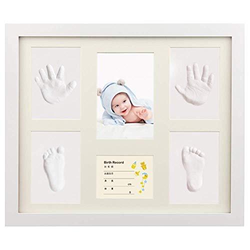 ベビーフレーム iSiLER 手形 足形 フォトフレーム 置き掛け兼用 無毒で安全 赤ちゃん 出産祝い 内祝い ベビ...