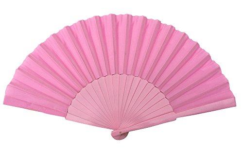 Spaanse flamenco waaier licht roze GROOT, hout en stof