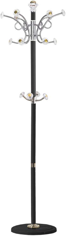 JIAYING Coat Rack, Floor Coat Rack Metal Creative Hook Hanger Multi-Function Hanger redatable Coat Hook Load 50kg (color   Black)
