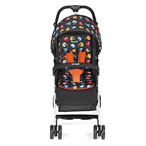 Brevi 709-579 Mini Large Passeggino, Uccellini di Bosco, Multicolore