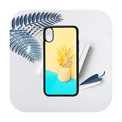Verano fruta piña patrón teléfono caso PC para iPhone 11 12 pro XS MAX 8 7 6 6S Plus X 5S SE 2020 XR-a9-iiPhone5 SE 5S