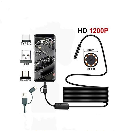 Endoscopio Pequeño PC androide TypeC-C / cámara HD 1200P USB endoscopio rígido...