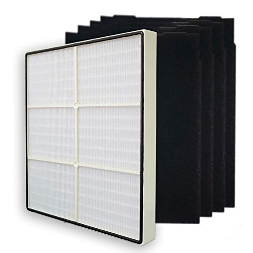 PUREBURG Replacement 1 HEPA Filter + 4 Carbon Filters Compatible with Whirlpool Whispure 8171434K 1183054K 1183054 AP300 AP350 AP450 AP510