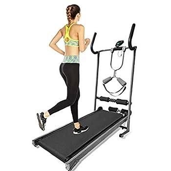 EuCoo Health & Fitness Folding Non-motorized Treadmill Jogging Cardio Machine Equipment for Home Gym