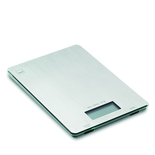 kela 15746 Balance de Cuisine Digitale, 15 x 22 cm, INOX, Pia', Acier Inoxydable, 15x22x1,5 cm