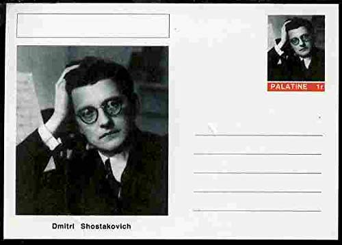 Palatine (Fantasy) Personalities - Dmitri Shostakovich (composer) postal stationery card unused and fine PERSONALITIES MUSIC COMPOSERS OPERA JANDRSTAMPS