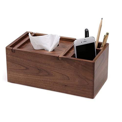 Boîte À Mouchoirs En Bois Multifonctions Salon Table Basse Maison Boîte De Stockage De Contrôle À Distance De Bureau Créatif (taille : 26 * 13.7 * 10.8)