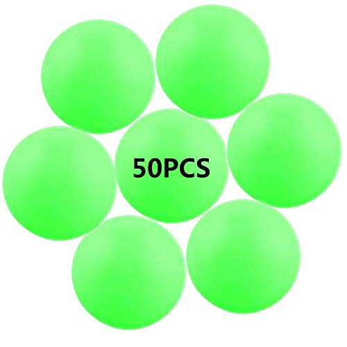 Amazing Deal Jedulin 40MM Ping Pong Balls, 50 Pack Assorted Colored Tennis Balls Multi Color Plastic...