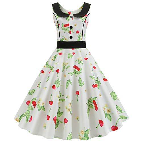 Damen Vintage Rockabilly Swing Kleider 50s Retro Vintage Rockabilly Kleid Partykleider...