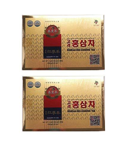 Pamai Pai® Doppelpack: 2 x 150g Roter Ginseng Tea Getränk aus Korea mit rotem Ginseng Granulat Instant Ginsengtee