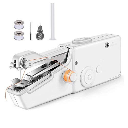 Handheld Sewing Machine, Mini Portable Electric Stitching Machine Fabric Clothing Cordless Craft Sewing Machine for Home Travel