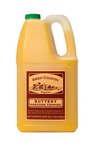 Amish Country Popcorn | Buttery Popcorn Topping - 1 Gallon | Old Fashioned with Recipe Guide