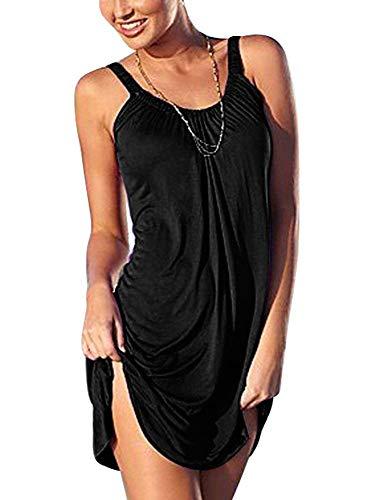 BienBien Abito Estivo Corto Vestito Senza Maniche Vestiti Casual Donna Estivi Taglie Forti da Cocktail Cerimonia Partito Spiaggia