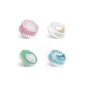 Braun 80-MV - Set de 4 Recambios de Cepillo Facial de Limpieza para Depiladora Facial