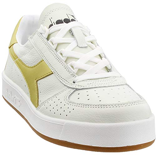Diadora B.Elite L White/Gold Men's 10.5, Women's 12