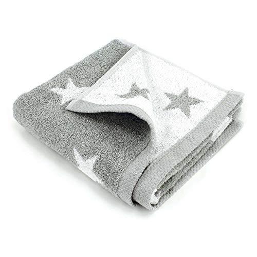 Toalla de baño 50x 100cm, 100% algodón, 480g/m2Stars gris