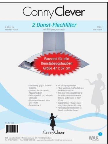 WAK 2 Dunst-Flachfilter 47x57cm für Dunstabzugshaube von Conny Clever®