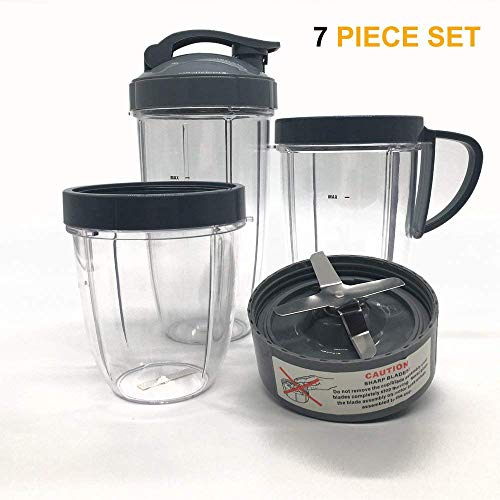 Cup and Blade Set for NutriBullet Replacement High Speed Blender Mixer System,nutribullet 900 series replacement parts (7)