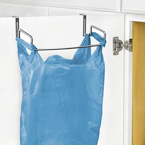 Lynk Over Cabinet Door Organizer - Plastic Bag Holder - Chrome