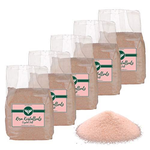 Azafran Rosa Kristallsalz (bekannt als Himalaya Salz) Steinsalz Ursalz fein 5kg
