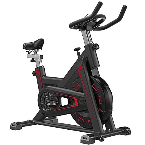 SKYWPOJU Bicicleta estática para Interiores con Resistencia magnética, súper silenciosa, Bicicleta estacionaria para Gimnasio en casa (Color : Gold)