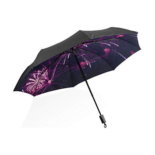 Golf Regenschirm Feuerwerk Volvo Ocean Race Galway Tragbarer kompakter Taschenschirm Anti-UV-Schutz Winddicht Outdoor-Reisen Frauen Mädchen Regenschirm