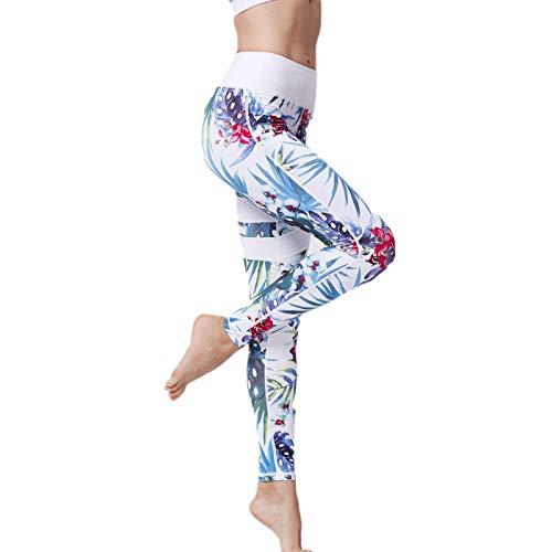 NIGHTMARE Medias y Leggings Deportivos de Cintura Alta para Mujer, Pantalones elásticos de Yoga Profesional para Mujer Pantalones de Yoga elásticos de Potencia S