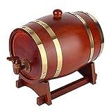 SHUANGX 3L Barril De Madera Vintage Oak Cerveza Herramientas De Elaboración De Cerveza Tap Dispensador Ajuste Para La Olla De Ron Whisky Wine Mini Bar Herramientas Home Brew Cerveza Keg Fit For Wholes